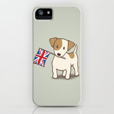 Jack Russell Terrier and Union Jack Illustration Slim Case iPhone (5, 5s)