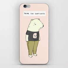 Bear the emptiness iPhone & iPod Skin