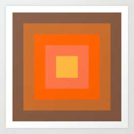 Warm Orange Art Print