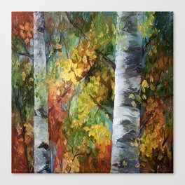 Birch Trees - III Canvas Print
