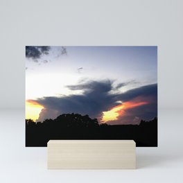 The Storm Clouds Retreat Mini Art Print