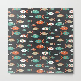 Retro Fish Metal Print