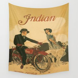 Vintage poster - Indian Motorcycles Wall Tapestry