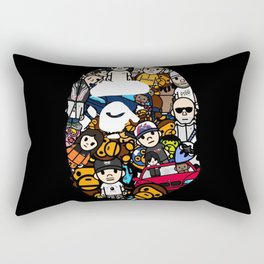 Hypebeast ape Graffiti  Rectangular Pillow