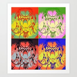 Predator Pop Art Art Print