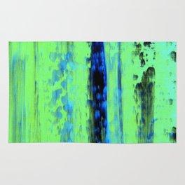 Gerhard Richter Inspired Urban Rain 2 - Modern Art Rug
