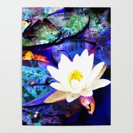 Electrifying Lotus Poster