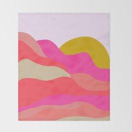 Adelaida, mountain sunset Throw Blanket