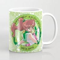 sailor jupiter Mugs featuring Sailor Jupiter - Crystal Intro by Yue Graphic Design