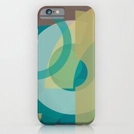 Cores em Semicírculos Q-1 iPhone Case