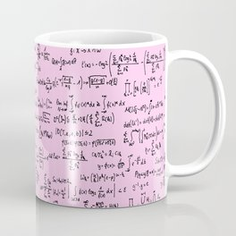 Math Equations // Light Pink Coffee Mug