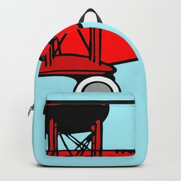 Red Biplane Backpack