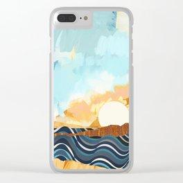 Summer Beach Sunset Clear iPhone Case