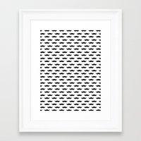 mustache Framed Art Prints featuring Mustache by Karen Hofstetter