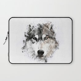 Wolf Face Painting Laptop Sleeve
