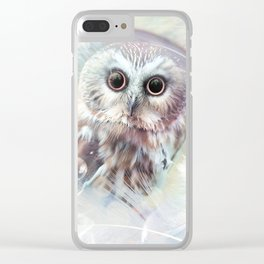 Chouette douceur Clear iPhone Case