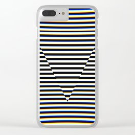 Trippy Triangle Clear iPhone Case