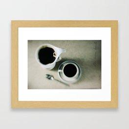 coffee.black Framed Art Print
