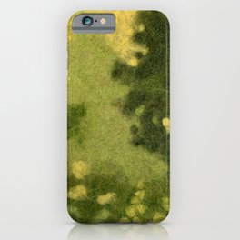 Summer Lawn, Fiber Felt Painting, Wool Texture, Yellow Green iPhone Case
