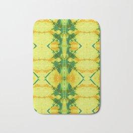 Radiant Yellow Indigo Shibori Bath Mat