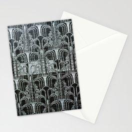 Pewter, art nouveau, metallic art work, belle époque,victorian,vintage photo,manipulated Stationery Cards