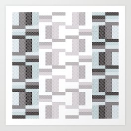 Border Geometric Art Print