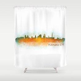 Kansas City Skyline Hq v3 Shower Curtain