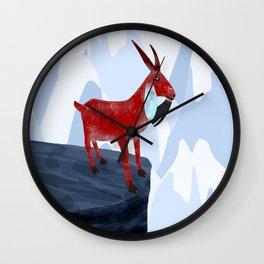 Mountain Goat Design Wall Clock
