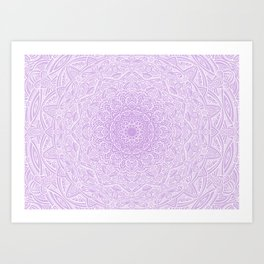 Most Detailed Mandala! Purple Violet Color Intricate Detail Ethnic Mandalas Zentangle Maze Pattern Art Print