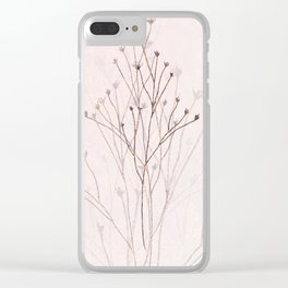 Rose Gold Twigs Clear iPhone Case