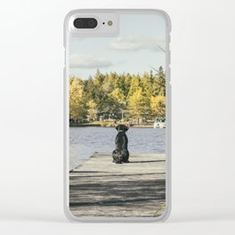 Charlie on the Pier Clear iPhone Case