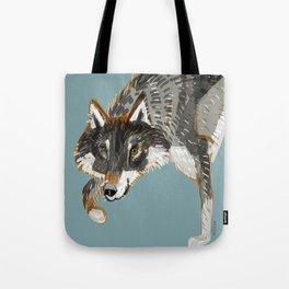 Totem Dark European Wolf Tote Bag