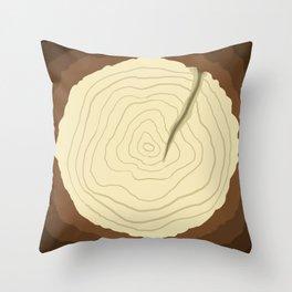 Wood Cut Throw Pillow