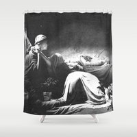 joy division Shower Curtains featuring Joy Division - Closer by NICEALB