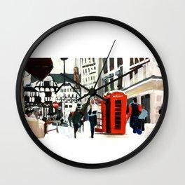 London in Winter Wall Clock