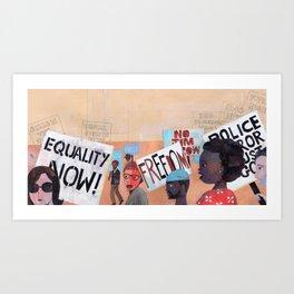 EQUALITY NOW Art Print