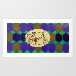 Hexagon Bike Art Print