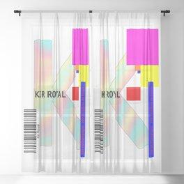 """Cocktail """"K"""" - Kir Royal Sheer Curtain"""