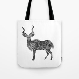 Henna-Inspired Kudu  Tote Bag