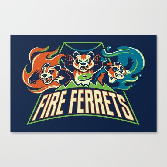 Fire Ferrets Canvas Print