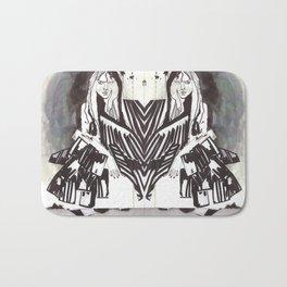 BLACK/WHITE MIRROR GIRL Bath Mat