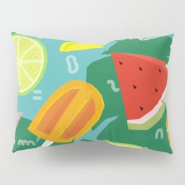 Watermelon, Lemon and Ice Lolly Pillow Sham
