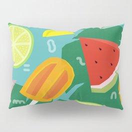Watermelon, Lemon and Ice Lolly Pillow Sham