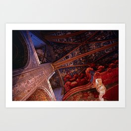 Looking Up - Albi Cathedral Art Print