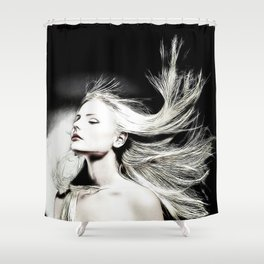 The Blonde in the Story Shower Curtain