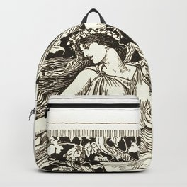 "Gustave Moreau ""Dancing Nymph (Nymphe Danseuse)"" Backpack"