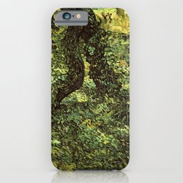 Trunks of Trees with Ivy Vincent van Gogh iPhone Case