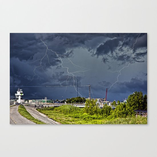 Storm near New Orleans Canvas Print