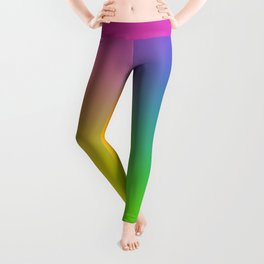 Fluorescent Gradient Rainbow Leggings