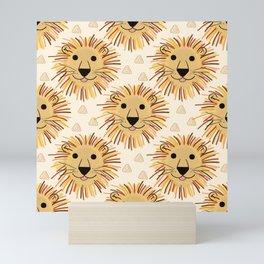 Lion Safari Mini Art Print